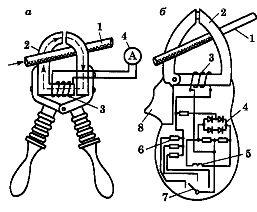 схема и устройство токоизмерительных клещей