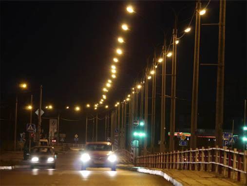 уличное освещение на фотореле