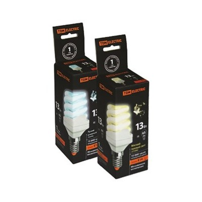 Бытовые энергосберегающие лампы TDM