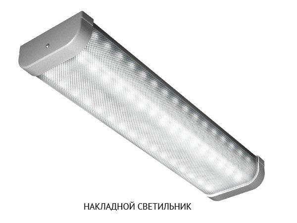 накладной свтеодиодный промышленный светильник